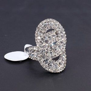 NEW Large Statement Ring Jewels Silver Size 7